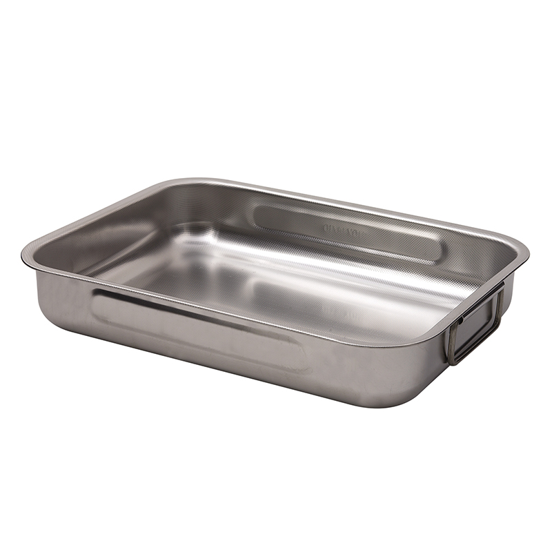 Dexam Supreme Stainless Steel Roaster - 40 x 28 x 5cm, with two side handles