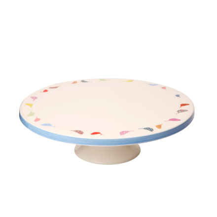 Made With Love Little Birds Porcelain Cake Stand