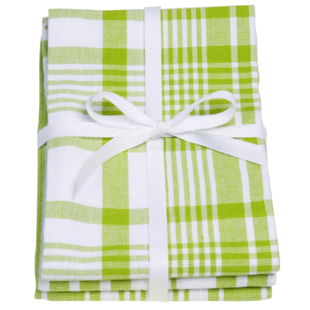 Dexam Love Colour Set Of 3 Extra Large Tea Towels - Greenery