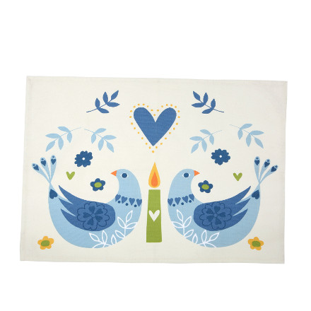 Woodland Birds Teatowel