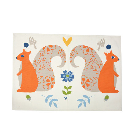 Woodland Squirrels Teatowel