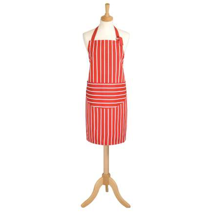 Rushbrookes Classic Butchers Stripe Apron - Red