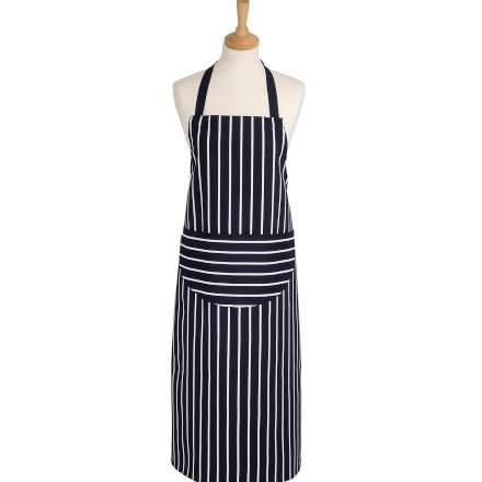 Rushbrookes Classic Butchers Stripe Long Apron - Navy