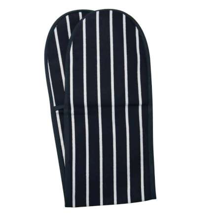 Rushbrookes Classic Butchers Stripe Double Oven Glove - Navy