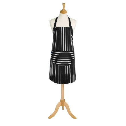Rushbrookes Classic Butchers Stripe Medium Apron - Slate Grey
