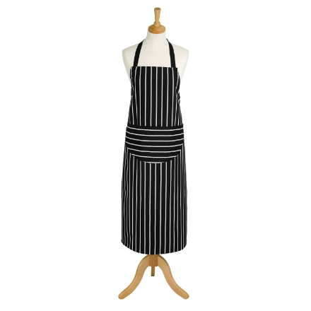 Rushbrookes Classic Butchers Stripe Long Apron - Slate Grey