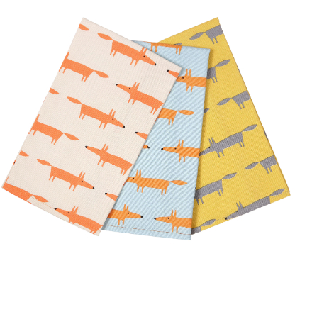 Scion Living Mr Fox Tea Towels - Set of 3