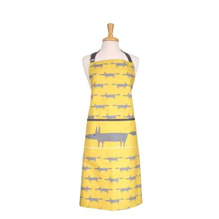 Scion Living Mr Fox Adult Apron - Yellow