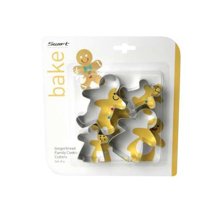 Dexam Gingerbread Family Cookie Cutters - Set of 4