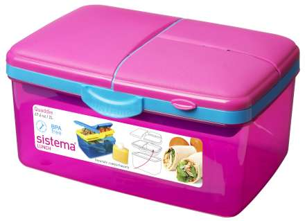 Sistema Trends Quaddie Lunch Box - 2L